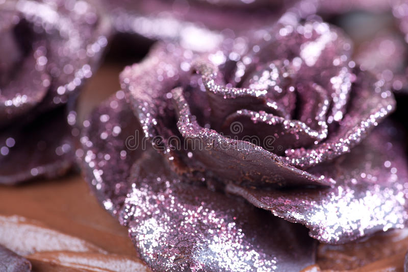 Download Pink glitter roses stock image. Image of sugar, chocolate - 28035245