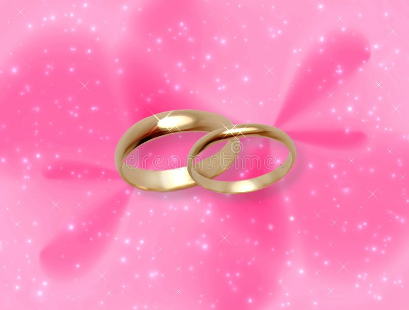 Download Pink Glow With Wedding Rings Royalty Free Stock Photography - Image: 514297