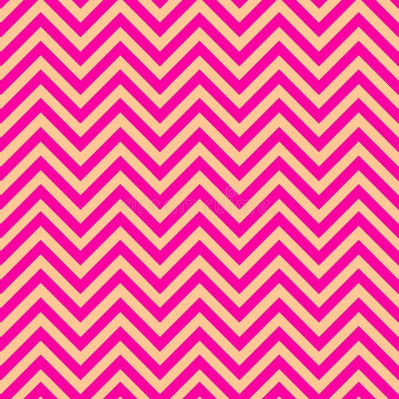 Download Pink And Gold Chevron Pattern Stock Vector