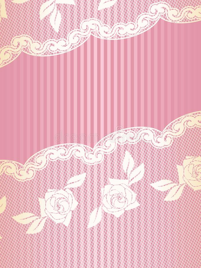 Download Pink And Gold French Lace Background Stock Vector - Image: 10989697