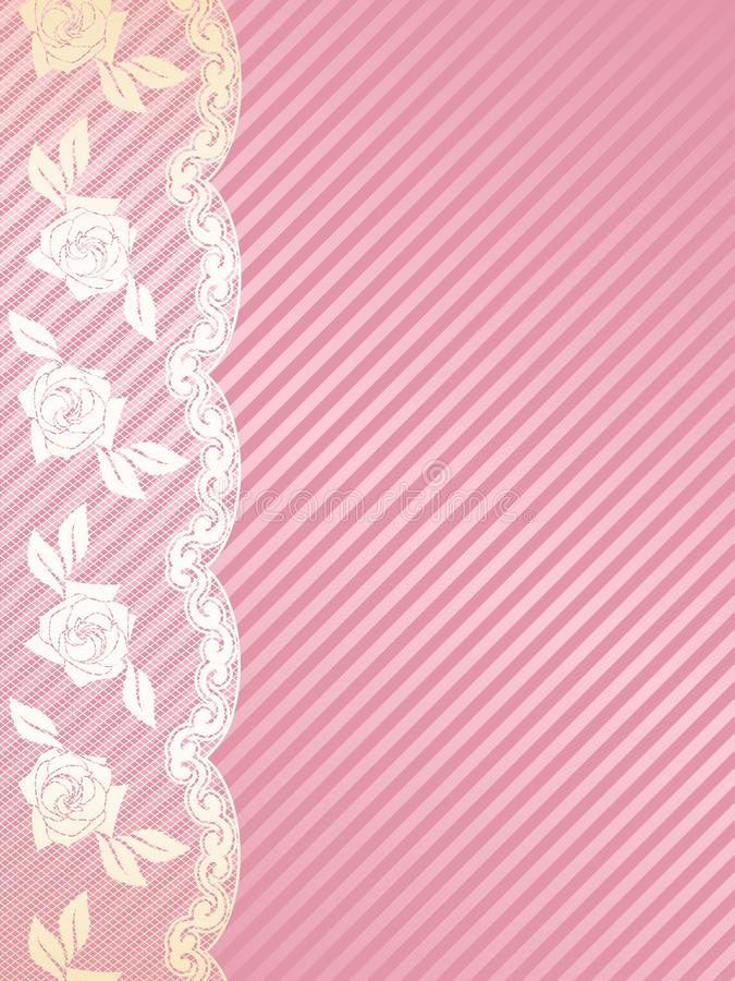 Pink And Gold French Lace Background Royalty Free Stock Photo