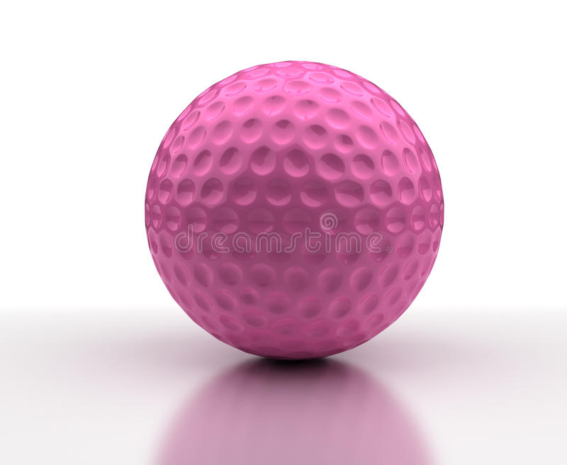 Pink Golf ball stock photography