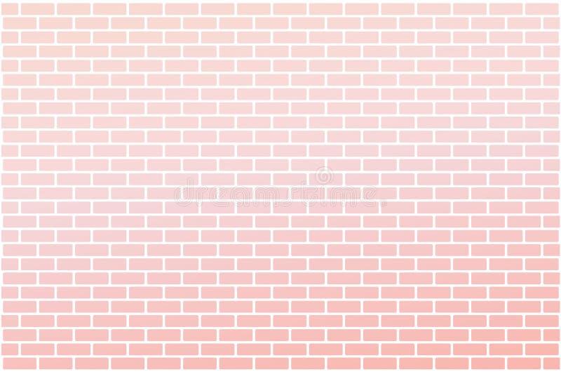 Pink gradient brick wall royalty free stock photo