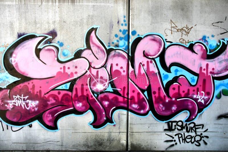 Pink graffiti royalty free stock photos