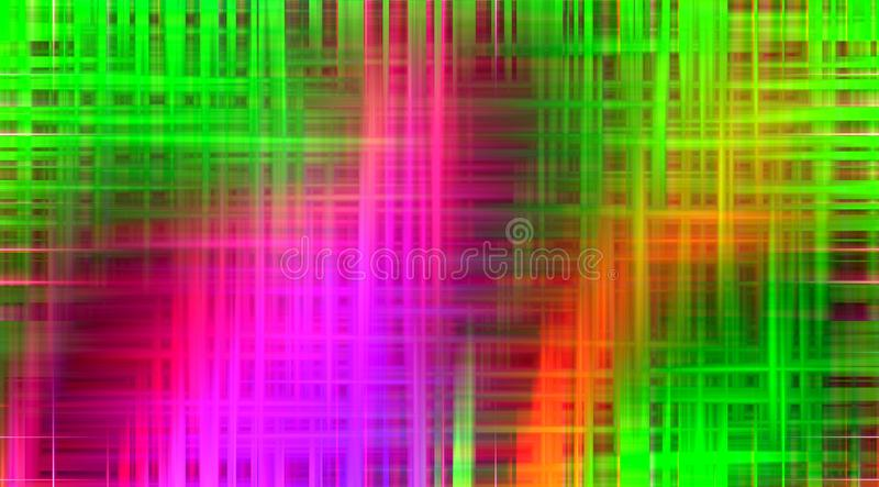 Pink green phosphorescent orange soft background, colors, geometries, bright background, colorful geometries. Pink green phosphorescent orange fluid lines royalty free illustration