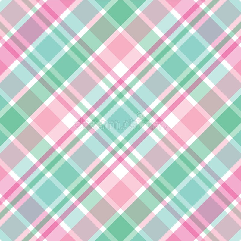 Pink and Green Plaid royalty free illustration
