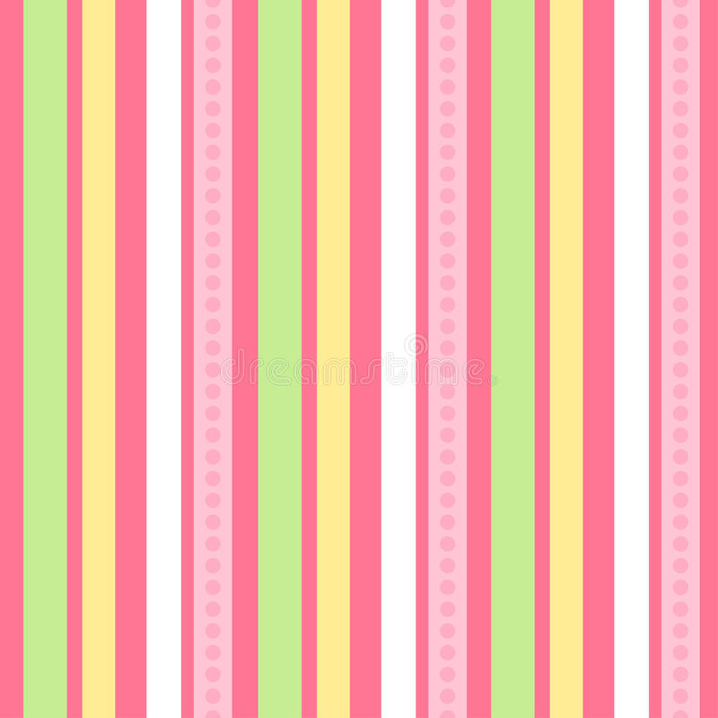 Free Pink Green Stripes | Seamless Vector Wallpaper Royalty Free Stock Photography - 12251747