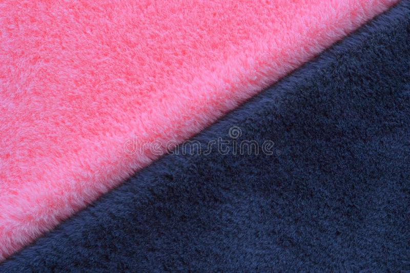 Pink and grey fur background stock photos