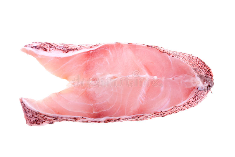 Pink grouper steak stock image