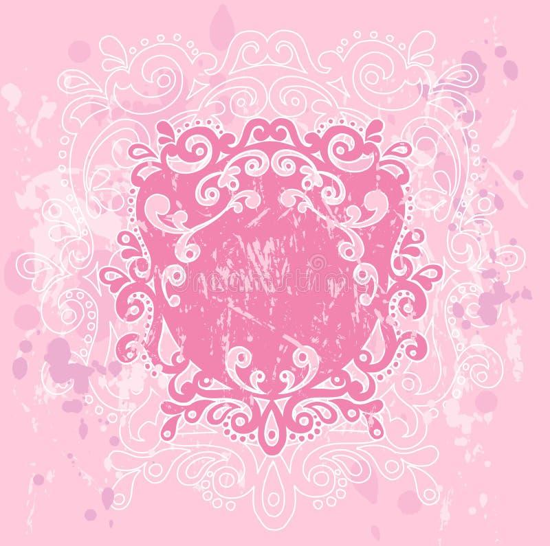 Pink Grunge Crest royalty free illustration