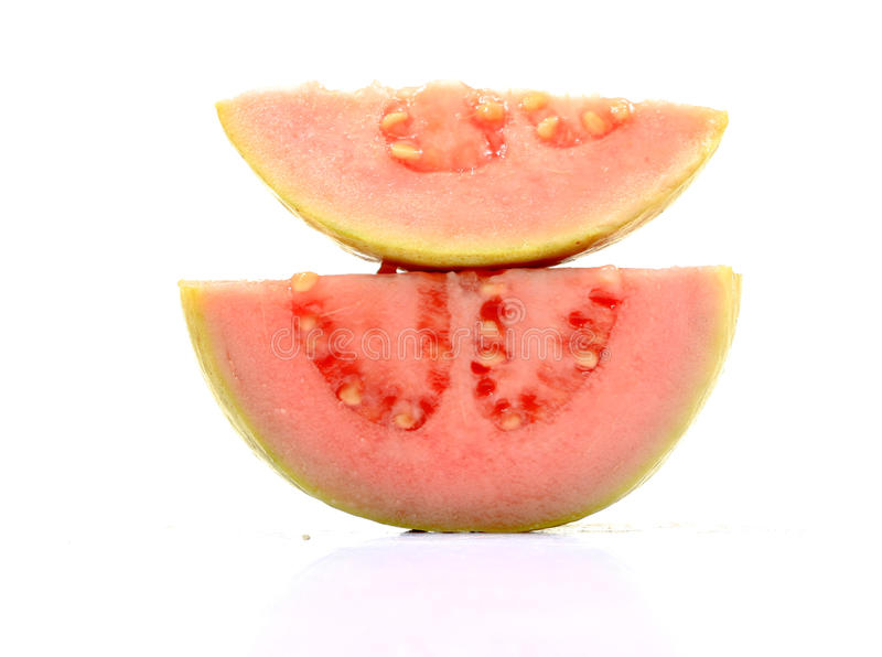 Download Pink guava slices stock photo. Image of delicious, ripeness - 17562988