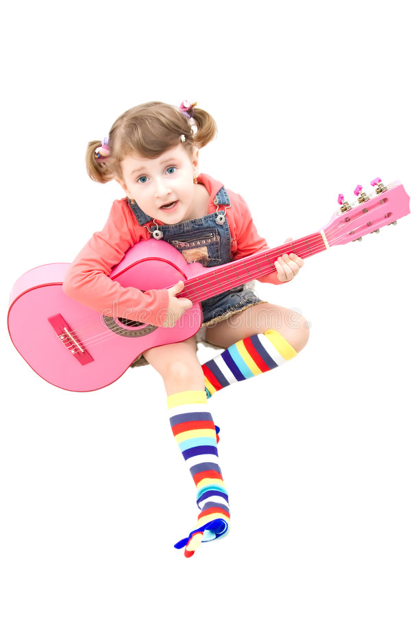Download Pink guitar stock photo. Image of pink, isolated, expression - 8595968