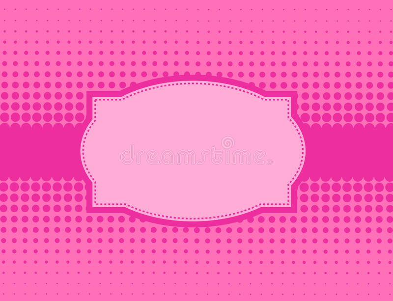 Download Pink halftone background stock vector. Image of card - 22690966