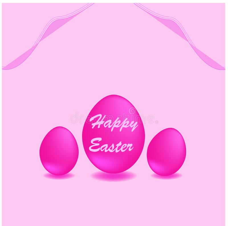 Pink Happy Easter greeting cards with egg ,for banners or background. Pink Happy Easter greeting cards with egg,for banners or background,celebration vector illustration