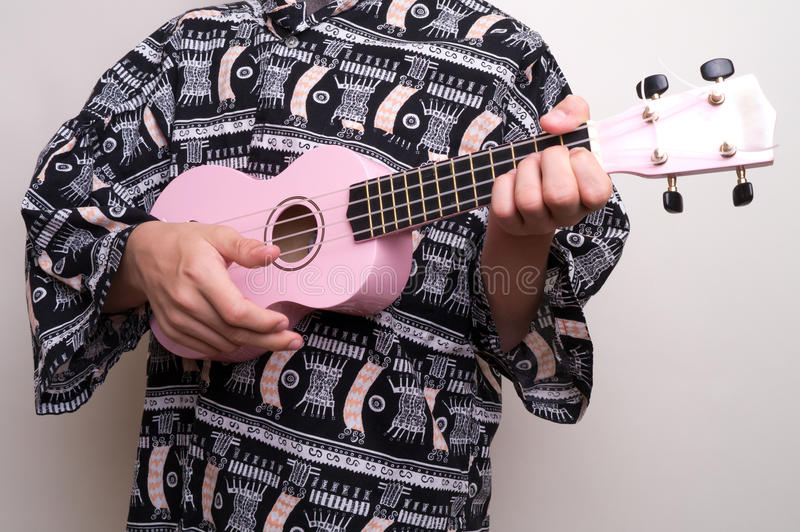 Pink Hawaiian Ukulele Love Song stock image
