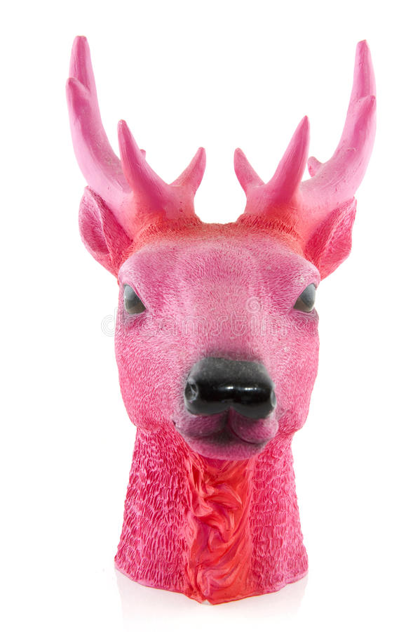 Download Pink head of a deer stock photo. Image of design, background - 13021762