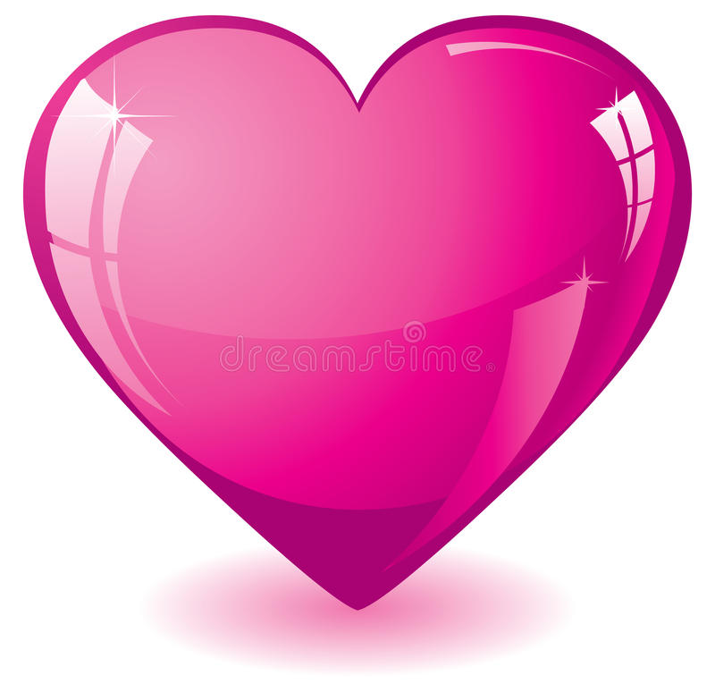 Pink Heart vector illustration