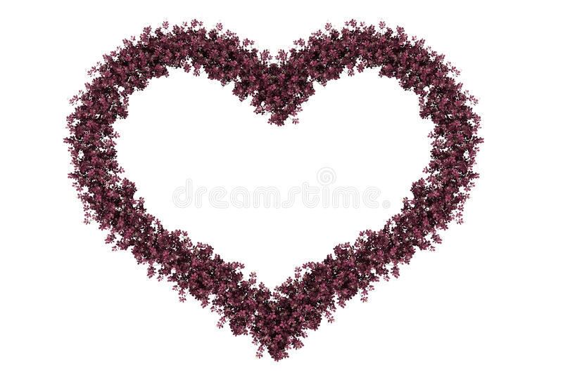 Pink heart royalty free stock image