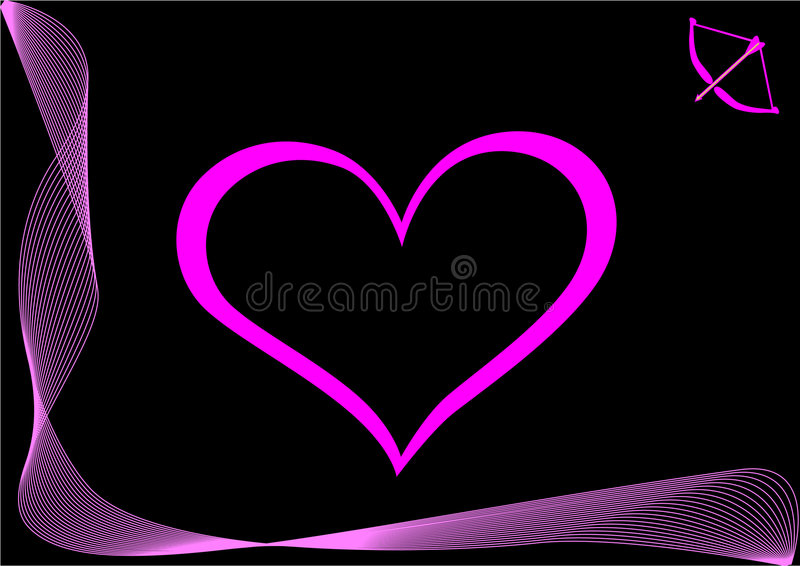 Pink heart royalty free illustration