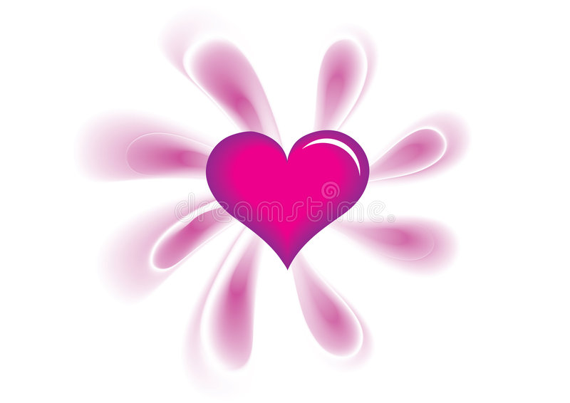 Download Pink heart stock vector. Image of banner, wedding, packing - 8727442