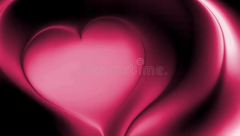 Pink heart abstract vector shaded wavy background wallpaper. vivid color vector illustration. royalty free stock photo