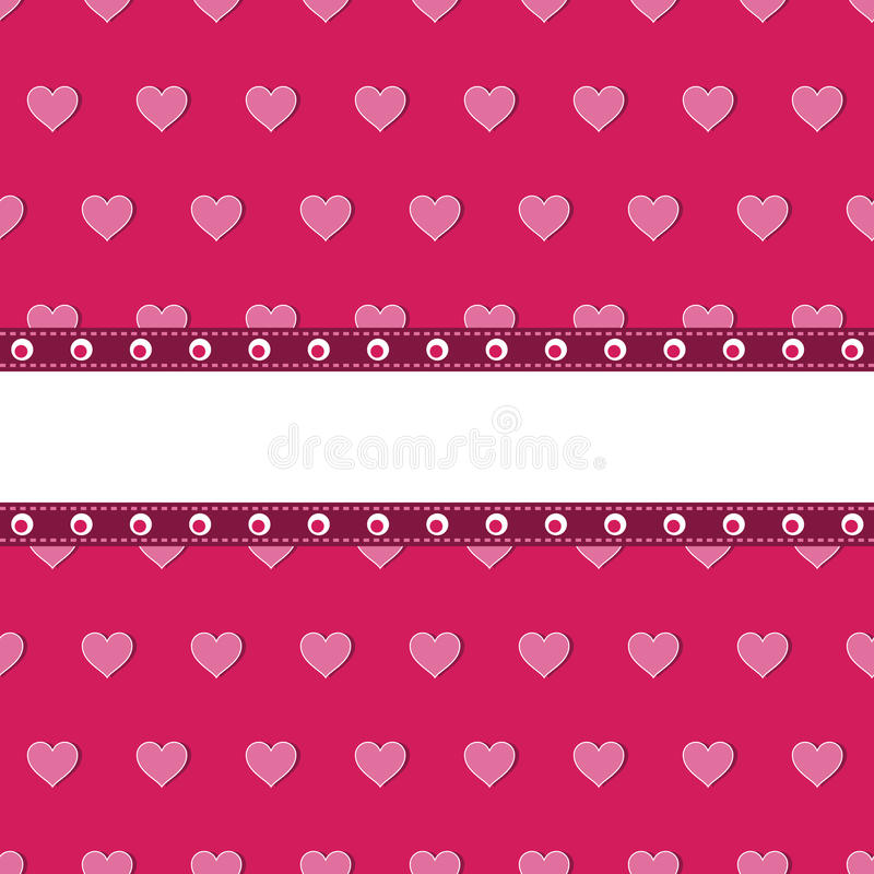 Pink heart background stock illustration