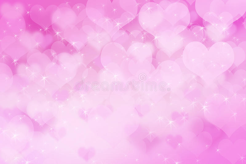 Pink heart bokeh background light royalty free stock photography