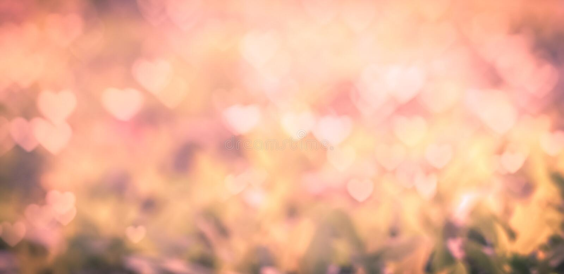 Pink heart bokeh. royalty free stock image