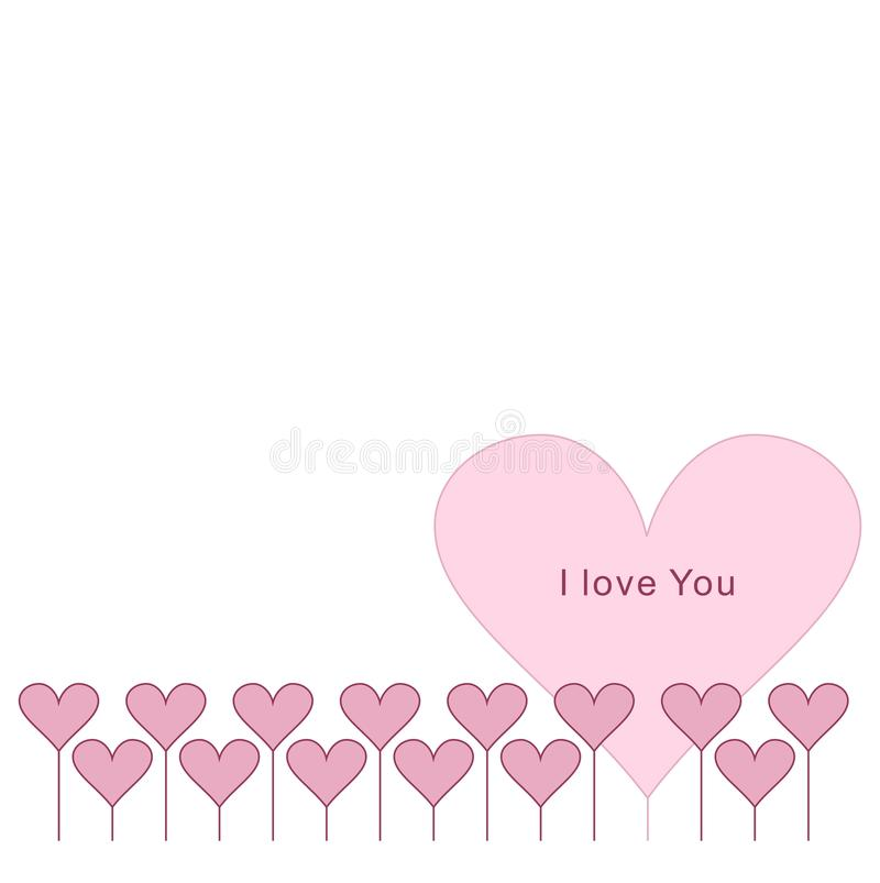 Pink heart border. Vector. royalty free stock images