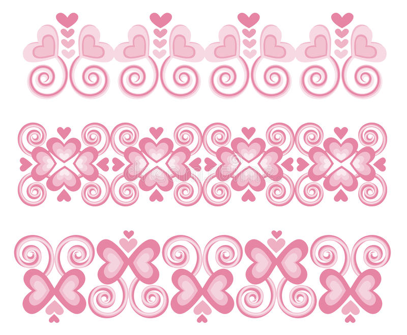 Download Pink Heart Borders 1 Royalty Free Stock Photography - Image: 16016957