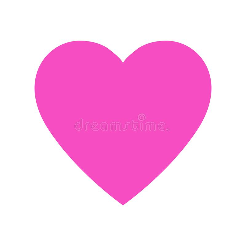 Pink heart icon, love icon vector illustration