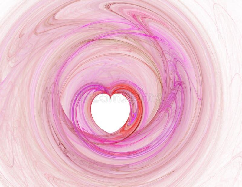 Pink heart illustration stock illustration