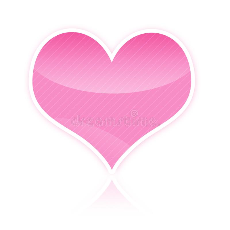 Pink heart illustration royalty free stock photography