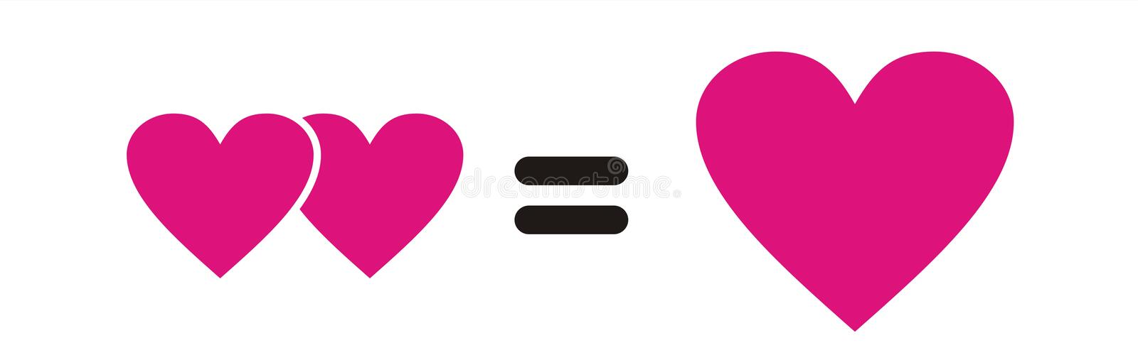 Pink heart interaction royalty free stock photos