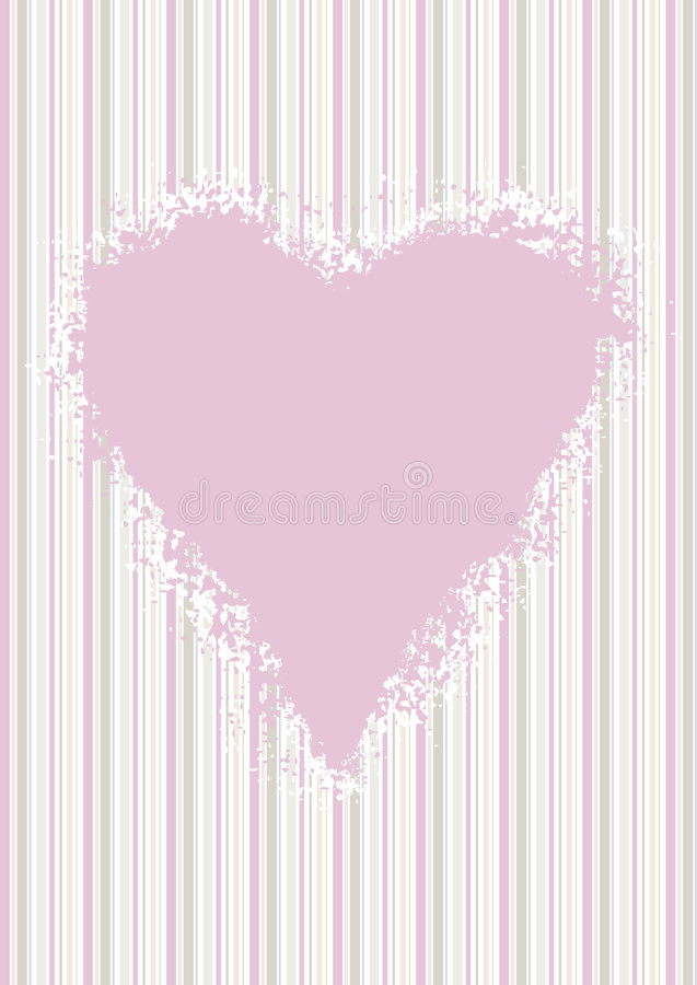 Download Pink Heart On Pastel Candy Stripes Stock Vector - Illustration of grunge, saint: 7917752