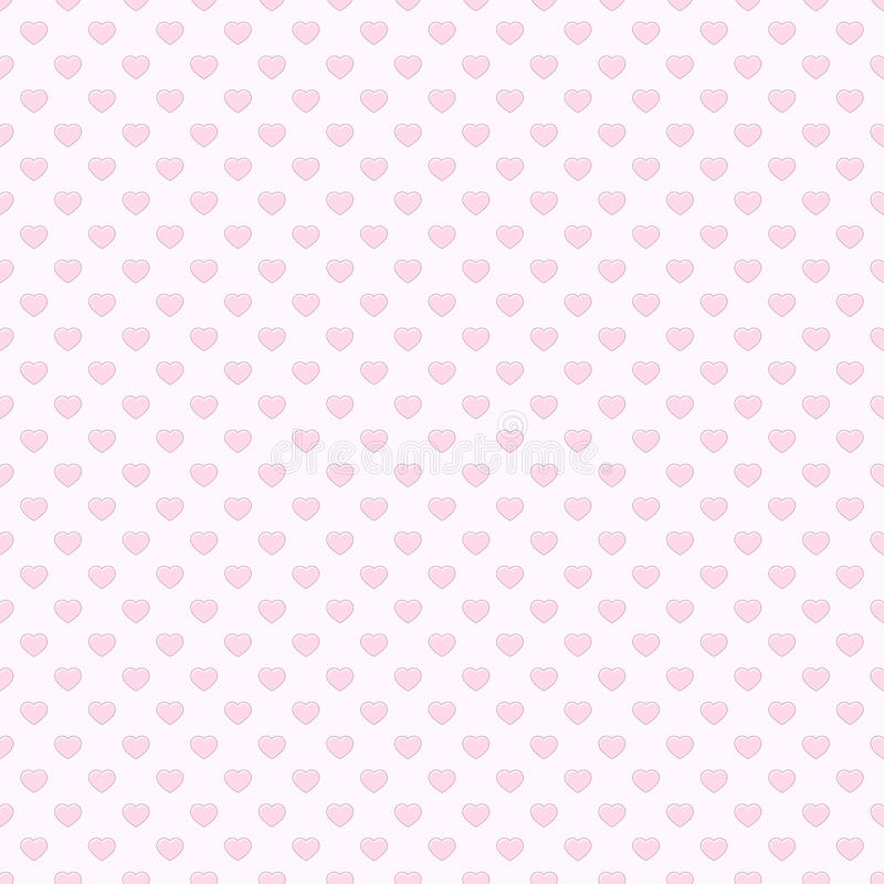 Free Pink Heart Seamless Pattern Background Royalty Free Stock Images - 23036209
