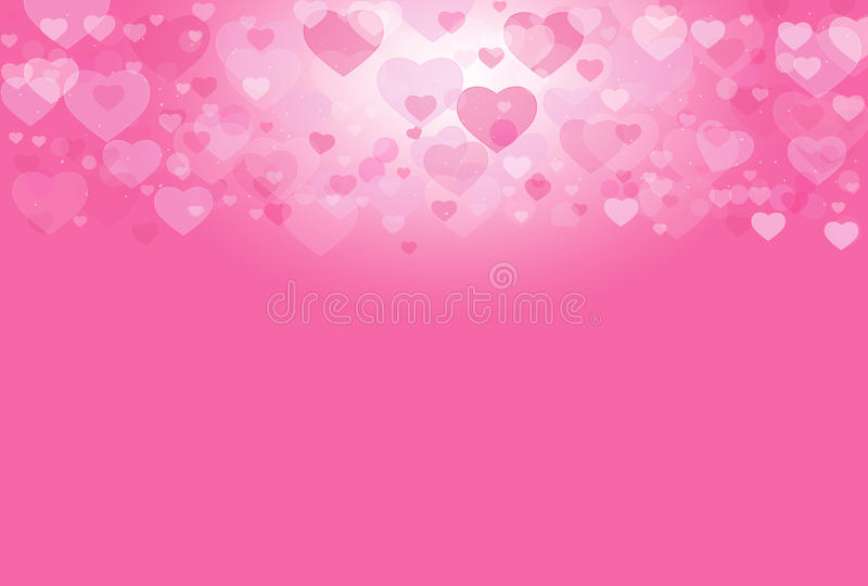 Pink Heart Valentine Sweet Background Stock Image