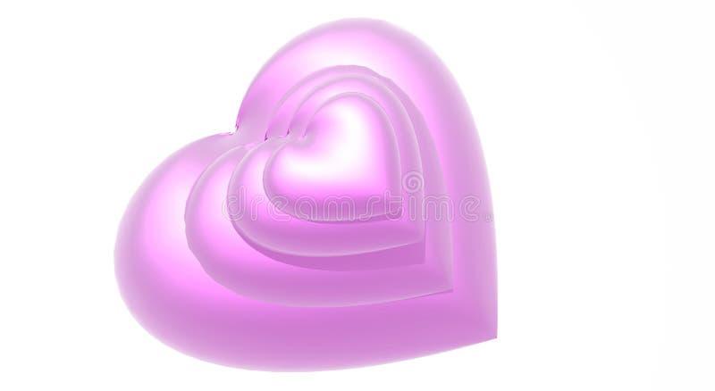 Pink Hearts stock photos