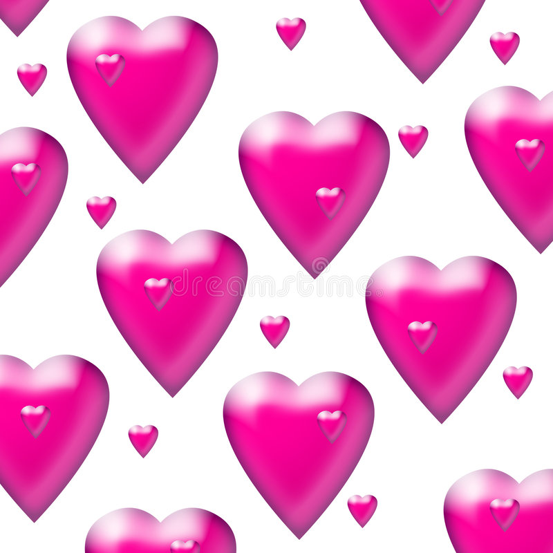 Pink hearts royalty free illustration