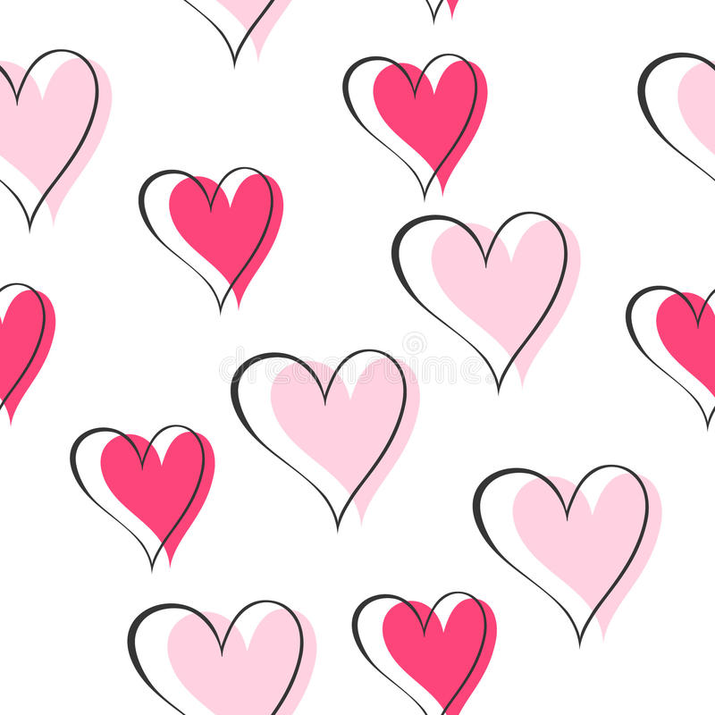 Download Pink hearts stock vector. Image of design, heart, hearts - 15516543