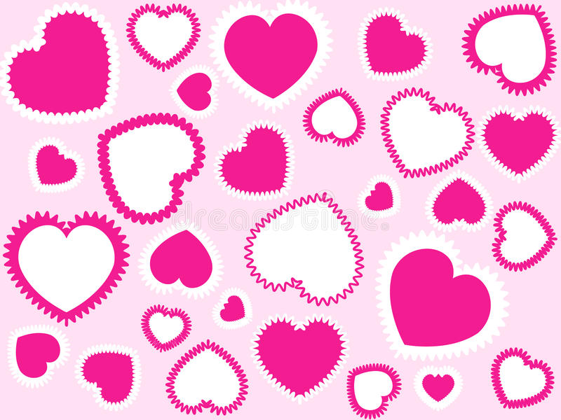 Download Pink hearts background stock vector. Illustration of pink - 11332404