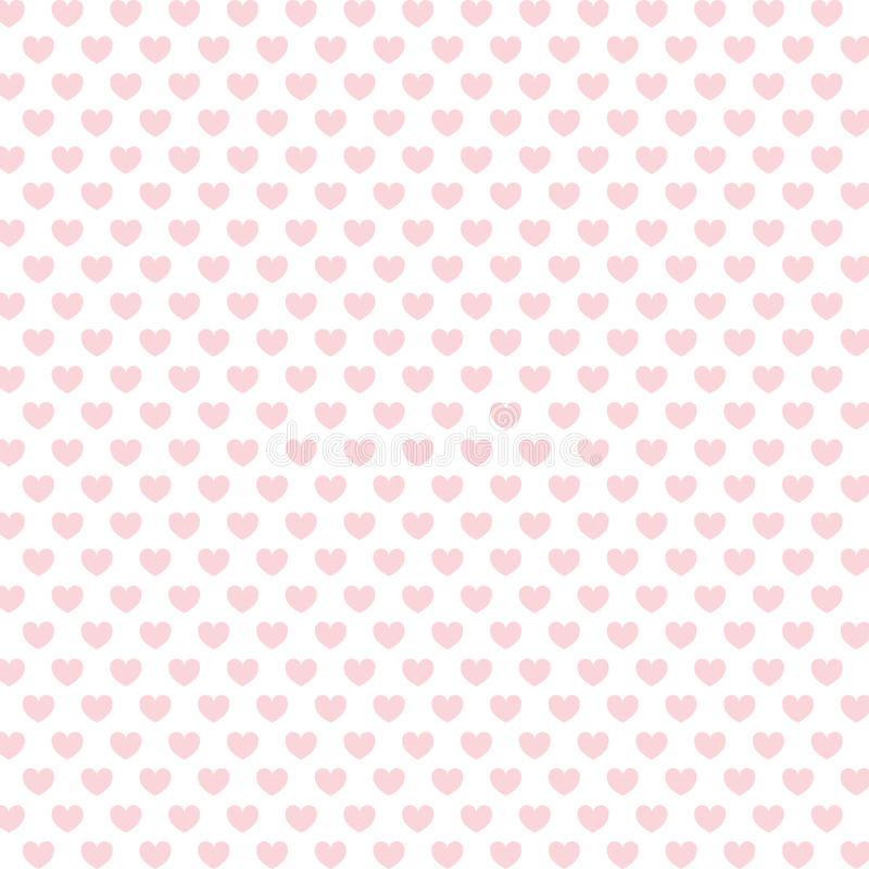 Pink hearts background stock illustration