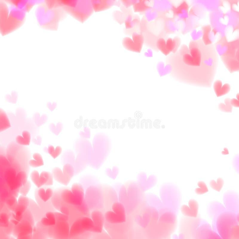 Pink hearts bokeh light Valentine`s day background eps 10. vector illustration