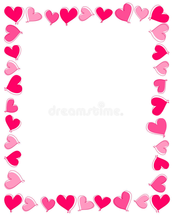 Download Pink hearts border stock vector. Image of illustration - 16886787