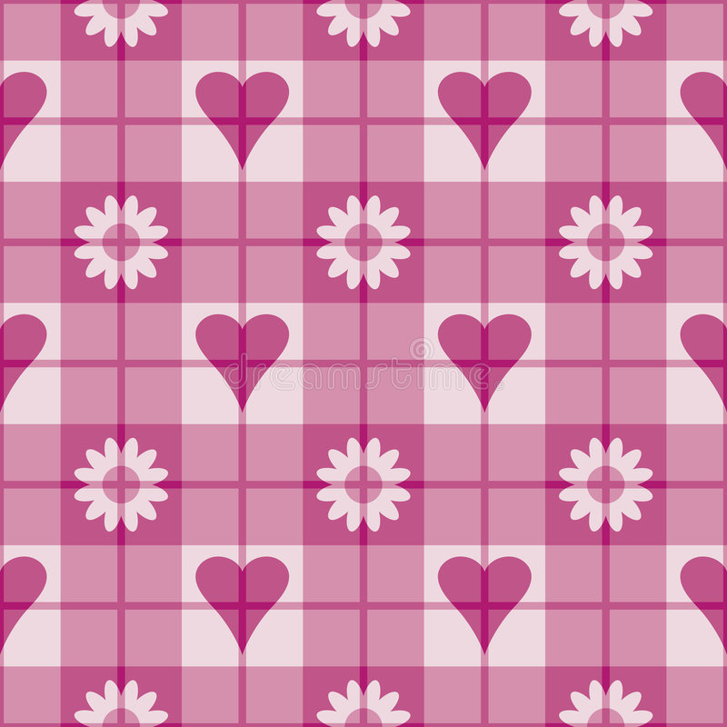 Download Pink Hearts-Flowers Pattern Stock Vector - Image: 3871797