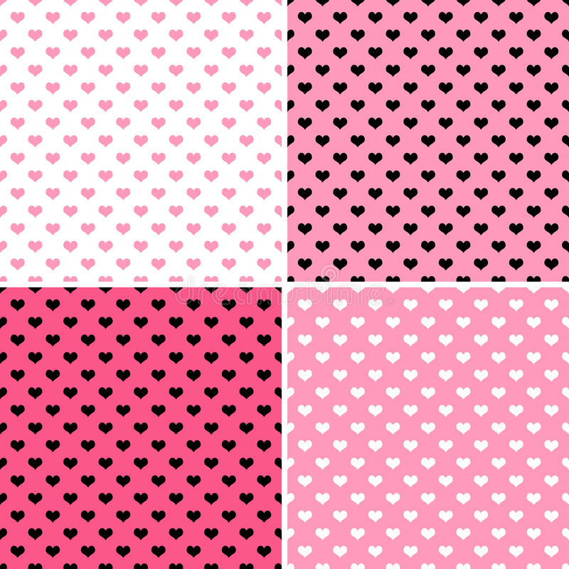Download Pink Hearts stock illustration. Image of texture, four - 31809073