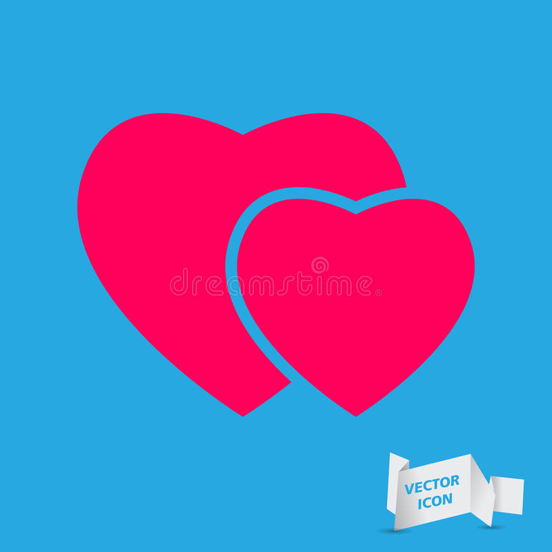 Pink hearts icon. Vector illustration royalty free illustration