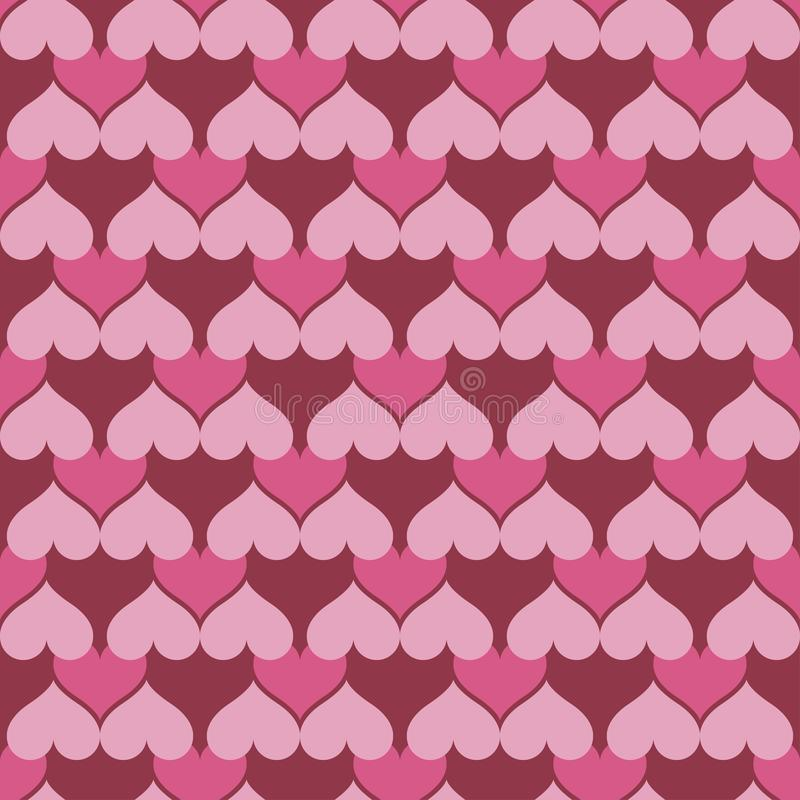 Pink hearts seamless background pattern royalty free illustration