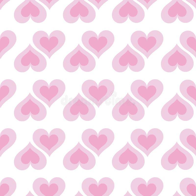Pink hearts seamless bakground pattern royalty free illustration