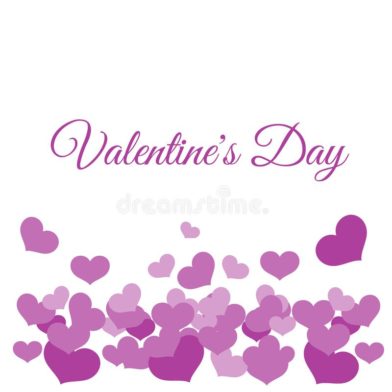 Pink hearts valentines day royalty free illustration